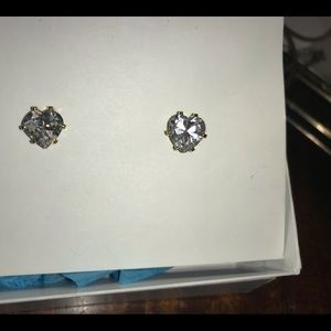 Vintage 6mm CZ STUDS NEW GOLD PLATED MADE IN USA